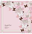 background pink butterflies vector image