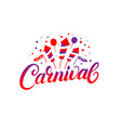 carnival hand written lettering background vector image
