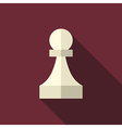 Chess pawn long shadow vector image