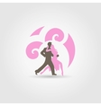Dancing couple on white vector image