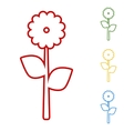 Flower Set of line icons vector image