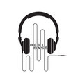 headphone icon sign vector image