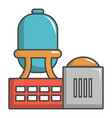 industrial water tank icon cartoon style vector image