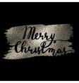 Merry Christmas silver vector image