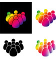 set crowd of people icon vector image
