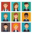 set recruitment employee hired isolated vector image