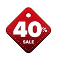 Sale fourty percent pricetag red vector image