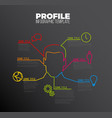 infographic profile user template vector image