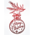 Ormate Christmas greeting card vector image