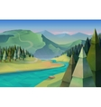 Forest landscape background vector image
