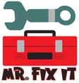 Mr Fix It vector image