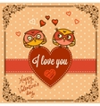 background with cute owls vector image