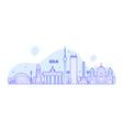 berlin skyline germany city buildings vector image