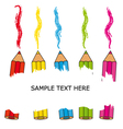 Card crayons vector image