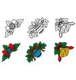 Christmas decorative corners set vector image