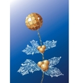 decorative flower christmas vector image