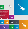 Guitar icon sign buttons Modern interface website vector image