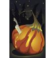 halloween pumpking birth vector image