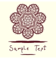 Invitation Card delicate mandala floral pattern vector image