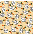 isolated cute rabbit background vector image