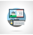 Security technology color detailed icon vector image