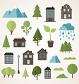 Flat collection vector image vector image
