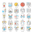 Flat Color Line Icons 15 vector image