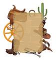 cowboy sackcloth frame vector image