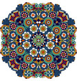 mandala style floral decorative element vector image