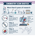 Chemistry research infographic sketch vector image vector image