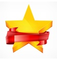 Stars with ribbon vector image vector image