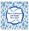 Greeting christmas card with watercolor frost vector image