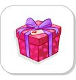 gift box and ribbon vector image vector image