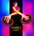 Trance party dj vector image