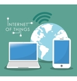 Internet of things Online icon Flat vector image