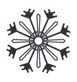 Abstract snowflake of Christmas season design vector image