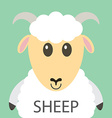 Cute white sheep cartoon flat icon avatar vector image