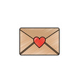 envelope message greeting heart love romantic vector image