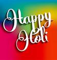 Happy Holi background vector image