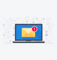 laptop and email notification vector image