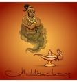 Oriental tale of genie vector image