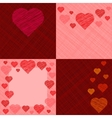 Set of four Valentines Day Cards vector image