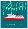 traveling liner festival on cruise ship vector image