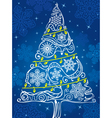 silhouette of Christmas tree vector image vector image