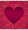 Cut out paper heart Valentines day card vector image vector image