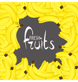 Lots of tasty bananas vector image vector image