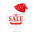 Christmas Banner With Santa Claus Cap vector image vector image