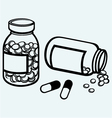 Pill bottle vector image vector image