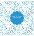 blue abstract swirls frame seamless pattern vector image