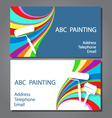 Business card for painting vector image vector image
